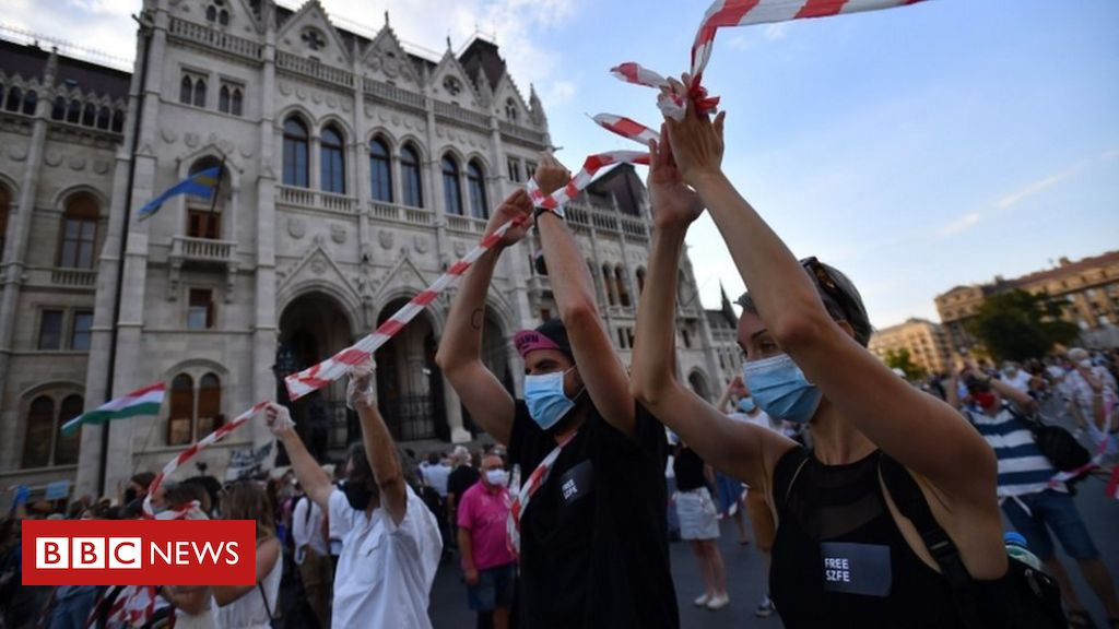 hungary:-protesters-rally-against-university-'takeover'-in-budapest