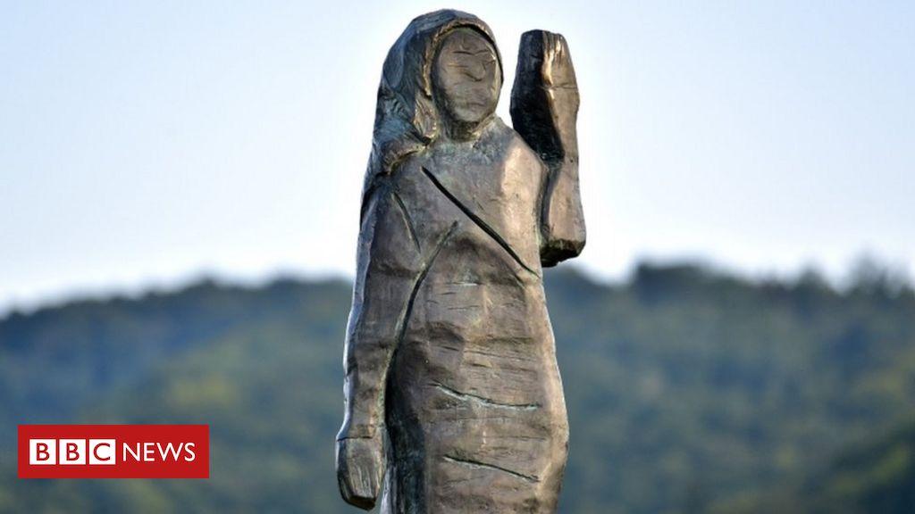 melania-trump:-new-metal-statue-unveiled-in-slovenia