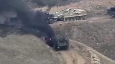 armenia-azerbaijan-conflict:-tanks-ablaze-as-fighting-erupts-over-disputed-region
