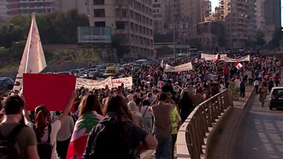 beirut-protests:-'a-year-of-rising-and-fading-hopes'